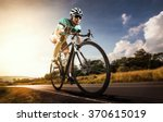 asian men are cycling road bike ... | Shutterstock . vector #370615019