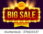 retro sign with lamp big sale... | Shutterstock .eps vector #370623137