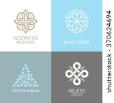 vector set of abstract logos  ... | Shutterstock .eps vector #370624694