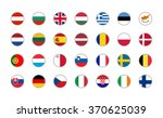 set of round icons european... | Shutterstock .eps vector #370625039