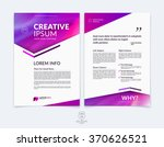 business brochure  flyer and... | Shutterstock .eps vector #370626521