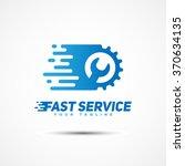 fast service logo template... | Shutterstock .eps vector #370634135
