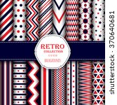 collection of seamless patterns ... | Shutterstock .eps vector #370640681
