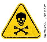 poison warning sign  label.... | Shutterstock .eps vector #370641659