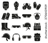 job safety equipment icons set... | Shutterstock .eps vector #370643909
