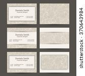 vector set of vintage business... | Shutterstock .eps vector #370643984
