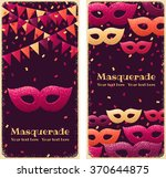 two vertical banners with... | Shutterstock .eps vector #370644875