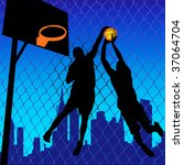 basketball players | Shutterstock .eps vector #37064704