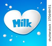 heart symbol   milk drops vector | Shutterstock .eps vector #370648451