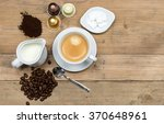 top view of coffee concept on... | Shutterstock . vector #370648961