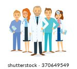 doctors and other hospital staff | Shutterstock .eps vector #370649549