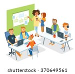 people in co working office | Shutterstock .eps vector #370649561