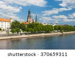 Towers Of Riga And Castle Seen...