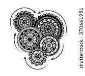 vector black and white pattern... | Shutterstock .eps vector #370661951