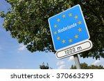 german road sign  state border... | Shutterstock . vector #370663295