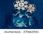 surgeons team working with... | Shutterstock . vector #370663541
