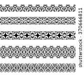 set of black borders isolated... | Shutterstock . vector #370666811