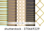 seamless pattern set in gold... | Shutterstock .eps vector #370669229