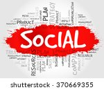 word cloud with social related... | Shutterstock . vector #370669355