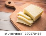 italian cheese sliced on a...   Shutterstock . vector #370670489