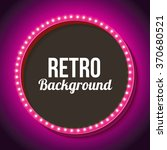 pink retro frame with lamps.... | Shutterstock .eps vector #370680521