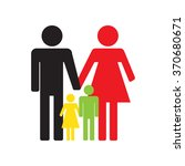 family icons on a white... | Shutterstock .eps vector #370680671
