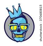 skull logo with crown  retro... | Shutterstock .eps vector #370680815