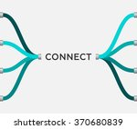 connect   eps10 vector | Shutterstock .eps vector #370680839