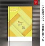 blank vertical hardcover book... | Shutterstock .eps vector #370680914