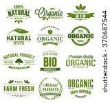 natural  organic  bio  farm... | Shutterstock .eps vector #370687544