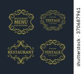 luxury menu template flourishes ... | Shutterstock .eps vector #370687961