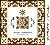 Antique Tile Frame Pattern...