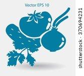 flat vegetables icon | Shutterstock .eps vector #370694231