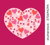 valentine greeting card with... | Shutterstock .eps vector #370694294