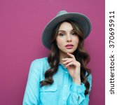 portrait of a beautiful girl in ... | Shutterstock . vector #370695911