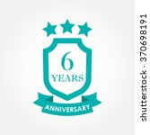 6 years anniversary icon or... | Shutterstock .eps vector #370698191