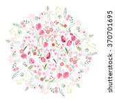 floral spring template with... | Shutterstock .eps vector #370701695