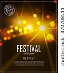 festival poster template with... | Shutterstock .eps vector #370708511