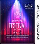 festival poster with spotlight. ... | Shutterstock .eps vector #370708535