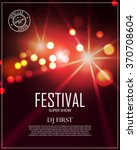 festival poster template with... | Shutterstock .eps vector #370708604