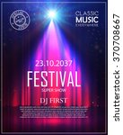 festival poster with spotlight. ... | Shutterstock .eps vector #370708667