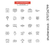 set of modern flat line icon...