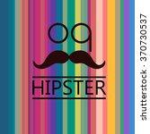 colorful stripes  mustache | Shutterstock .eps vector #370730537