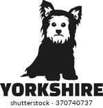 yorkshire terrier with breed... | Shutterstock .eps vector #370740737