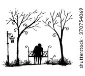 Romantic Couple On A Bench....