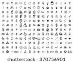 vector doodle icons. universal... | Shutterstock .eps vector #370756901