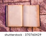vintage retro book mock up ... | Shutterstock . vector #370760429