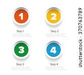 one two three four progress bar ... | Shutterstock .eps vector #370763789