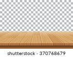 vector wood table top on... | Shutterstock .eps vector #370768679