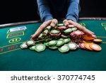 poker player going all in...   Shutterstock . vector #370774745